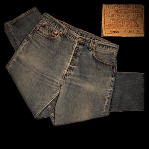 Vintage 90s 501xx Levi's USA Beautiful Fade 34/32